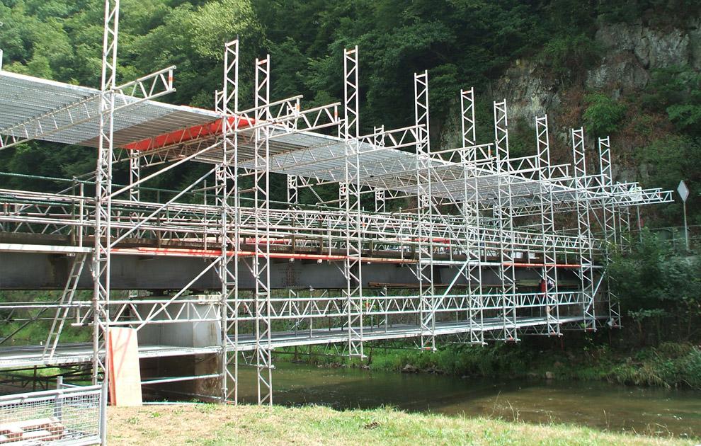 Brück über die Wird, Brückeneinrüstung