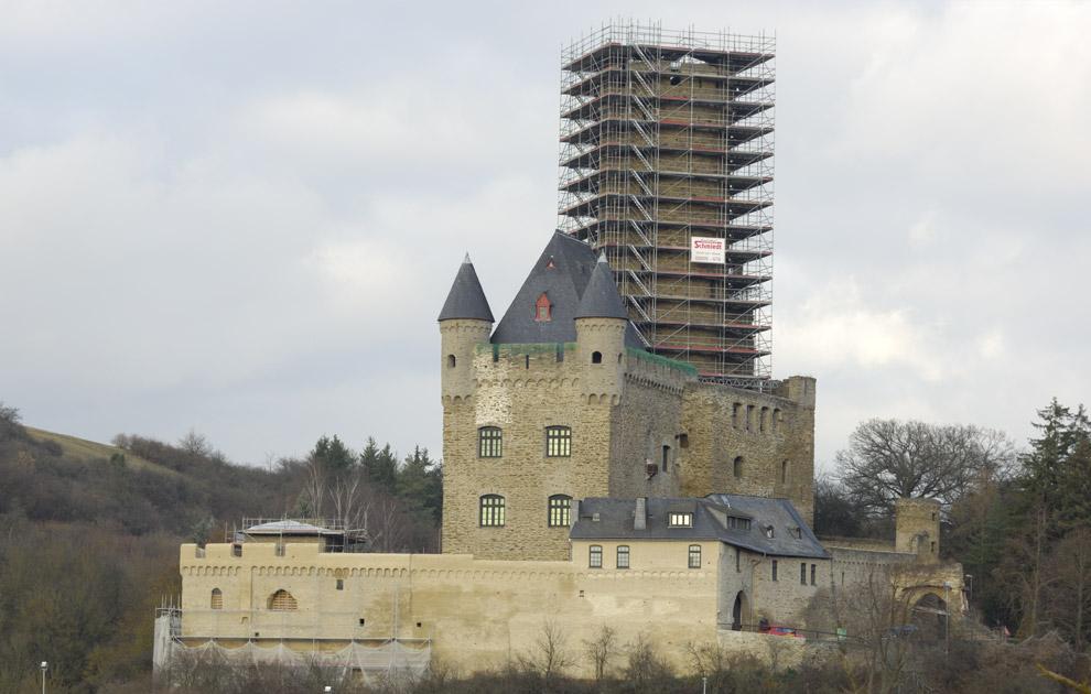 Gerüstbau Schmiedt, Sanierungsmaßnahmen Burg Schwalbach 2012/13
