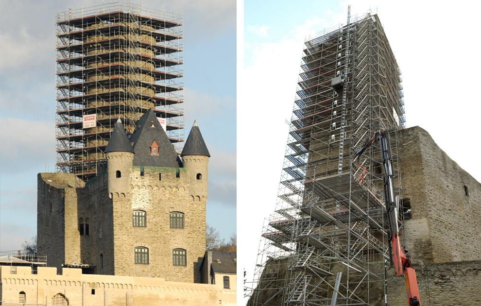 Sanierungsmaßnahmen Burg Schwalbach 2012/13