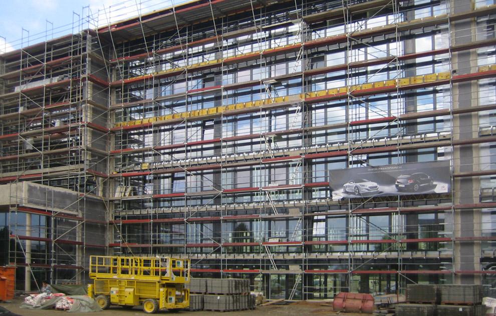 Deutschlandzentrale von Peugeot und Citroen - Gerüstbau Schmiedt