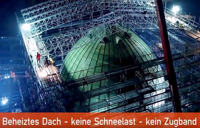 Spektakuläre kompletteinrüstung Anzeiger Hochhaus Hannover - Gerüstbau Schmiedt